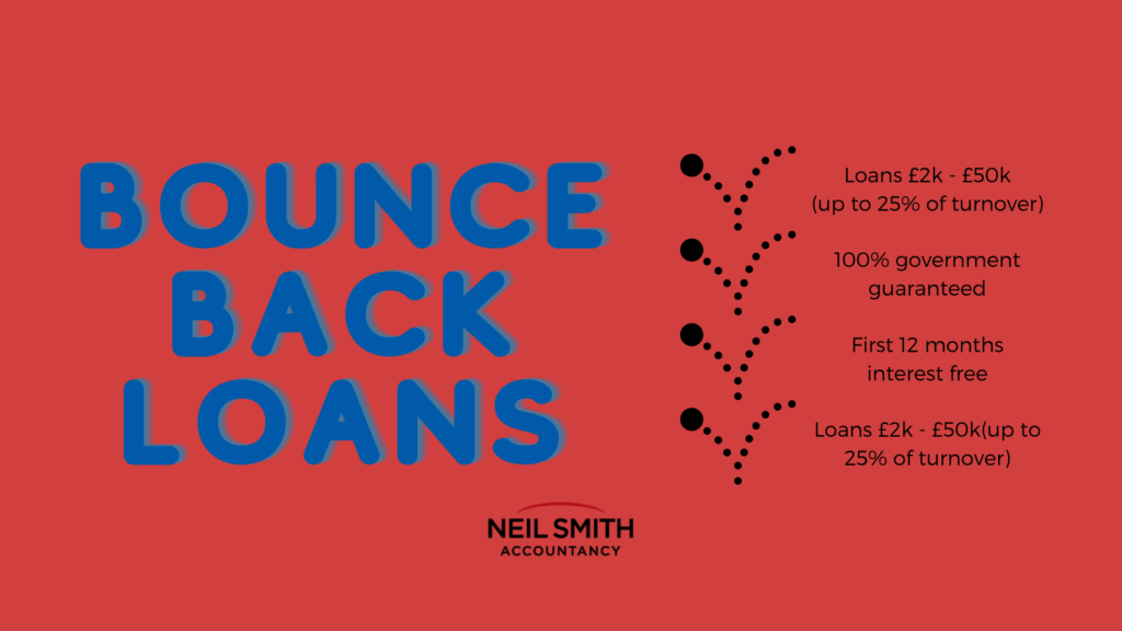 Government bounce back loans Neil Smith Accountancy